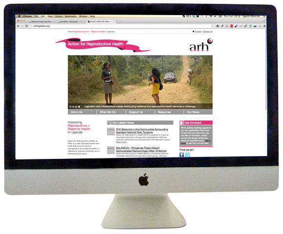 Action for Reproductive Health Homepage