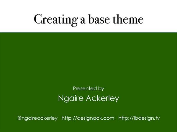 Creating a base WordPress Theme