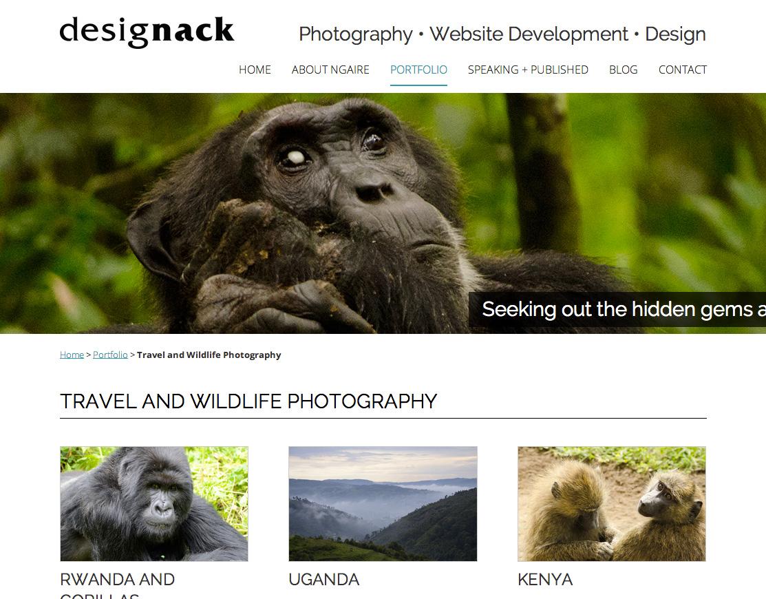 Designack redesign design and development