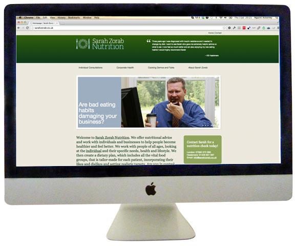 Sarah Zorab homepage