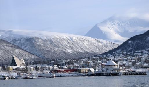 View over Tromso, Norway.