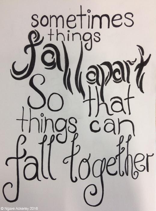 Sometimes things fall apart